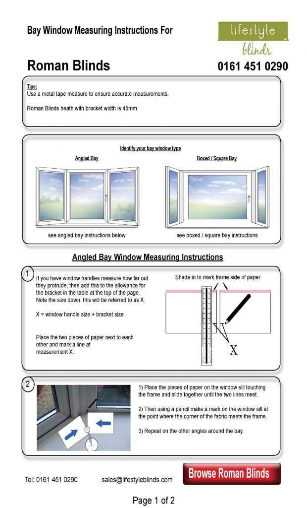 How to Measure Roman Blinds For Normal Windows