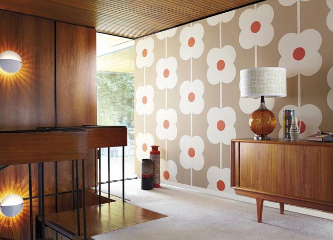 Orlay Kiely wallpaper brown (courtesy Harlequin fabrics)