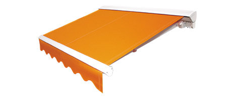 An image showing an orange awning