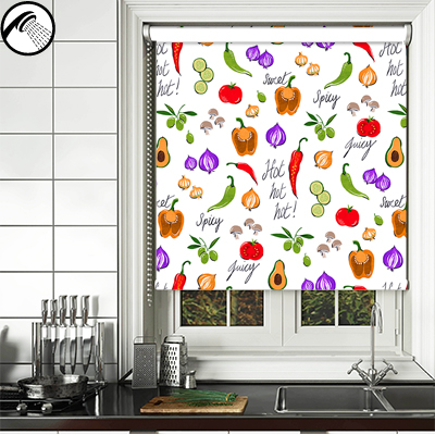 Tabasco Chilli kitchen roller blind
