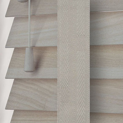 Acacia with Dove Tape  Wooden Venetian Blind Close Up