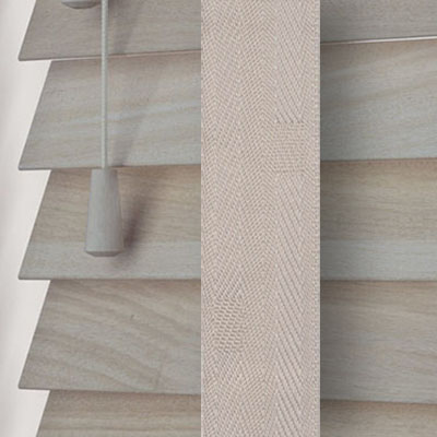 Acacia with Mist Tape  Wooden Venetian Blind Close Up