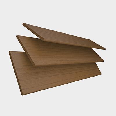Amber Oak Faux Wood with Toffee Tape Wooden Venetian Blind 3 Slats