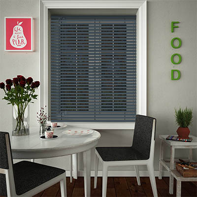 Venetian Blinds Anthracite Opened