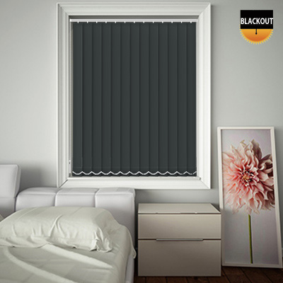 Made to Measure Blackout Replacement Vertical Blind Slats Bedtime Anthracite Main