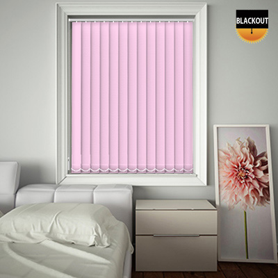 Made to Measure Blackout Replacement Vertical Blind Slats Bedtime Ballet Pink Main