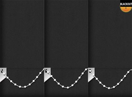 Made to Measure Blackout Vertical Blinds Bedtime Black 3 Slats