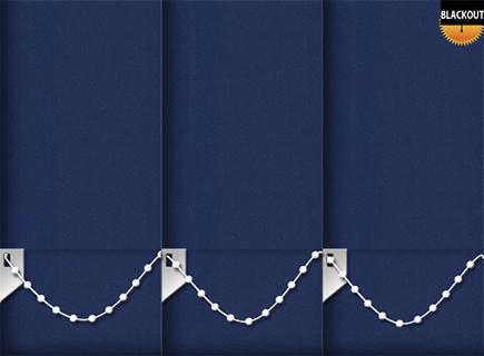 Made to Measure Blackout Vertical Blinds Bedtime Blue 3 Slats