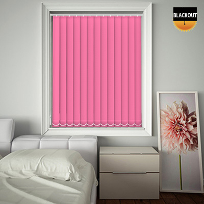 Made to Measure Blackout Replacement Vertical Blind Slats Bedtime Bright Pink Main