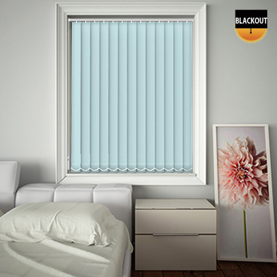 Made to Measure Blackout Replacement Vertical Blind Slats Bedtime Duck Egg Main