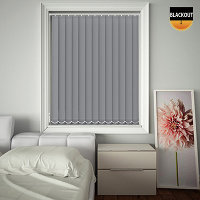 Made to Measure Blackout Replacement Vertical Blind Slats Bedtime Flint Main