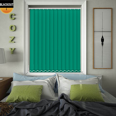Made to Measure Bedtime Green Burst Blackout Replacement Vertical Blind Slats