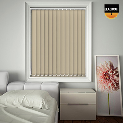 Made to Measure Blackout Replacement Vertical Blind Slats Bedtime Hessian Main
