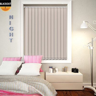 Made to Measure Bedtime Hint Blackout Replacement Vertical Blind Slats