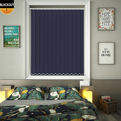 Made to Measure Bedtime Ink Blackout Replacement Vertical Blind Slats