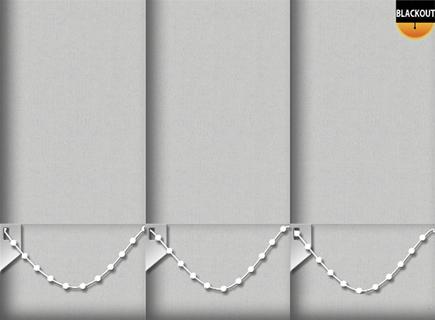 Made to Measure Blackout Vertical Blinds Bedtime Light Grey 3 Slats