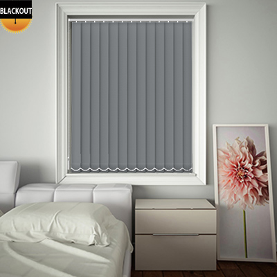 Made to Measure Bedtime Mid Grey Blackout Replacement Vertical Blind Slats