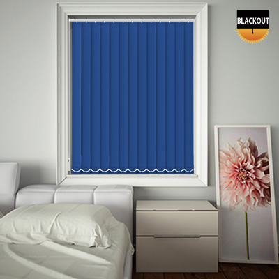 Made to Measure Blackout Replacement Vertical Blind Slats Bedtime Royal Blue Main