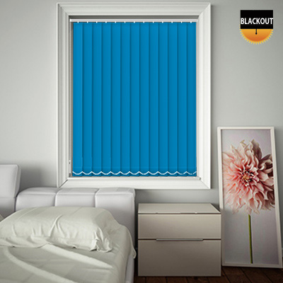 Made to Measure Blackout Replacement Vertical Blind Slats Bedtime Sea Blue Main