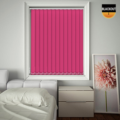 Made to Measure Blackout Replacement Vertical Blind Slats Bedtime Shocking Pink Main