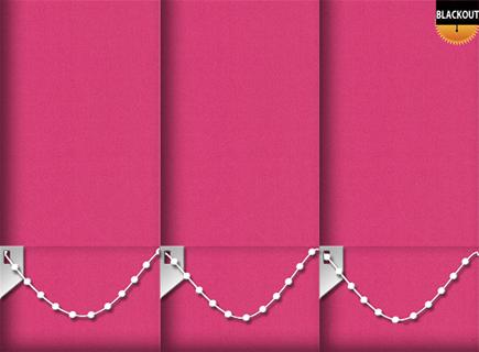 Made to Measure Blackout Vertical Blinds Bedtime Shocking Pink 3 Slats