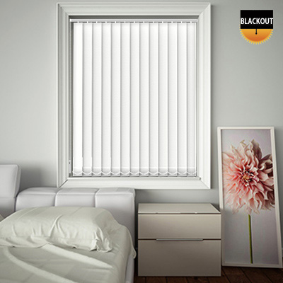 Made to Measure Blackout Replacement Vertical Blind Slats Bedtime White Main