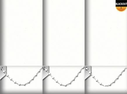 Made to Measure Blackout Vertical Blinds Bedtime White 3 Slats