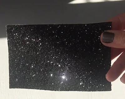 Black Glitter Roller Blind Close Up 1