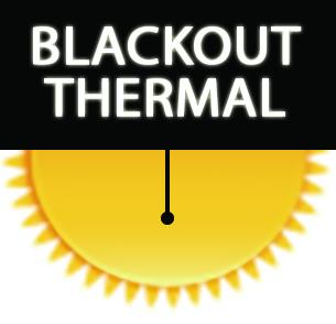 Black Glitter Blackout Thermal Roller Blinds