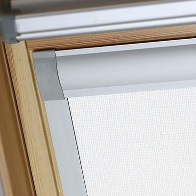 Blackout Blinds For Fakro Roof Skylight Windows Blossom White Frame Two
