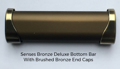 Gold Glitter Roller Blind Bronze Bottom Bar