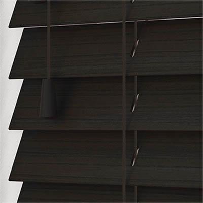 Callo Wood Grain Faux Wood Wooden Venetian Blind Close Up