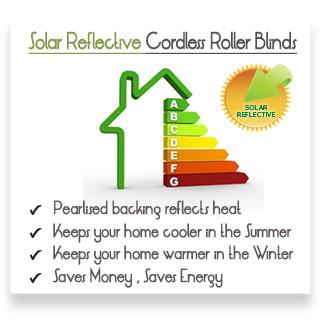 Camden Solar Silver Solar Reflective Vertical Blinds Banner