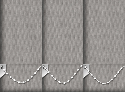 Made to Measure Vertical Blinds Cameron Graphite 3 Slats