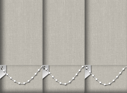 Made to Measure Vertical Blinds Cameron Sand 3 Slats