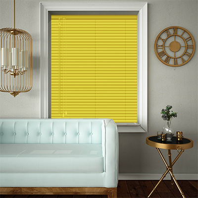 Venetian Blinds Canary Yellow Closed