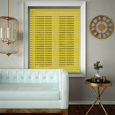 Venetian Blinds Canary Yellow Opened