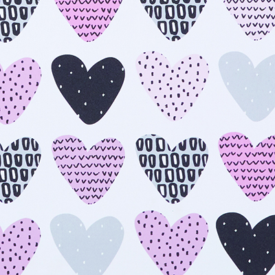 Made to Measure Thermal Blackout Roller Blinds Candy Confetti Hearts