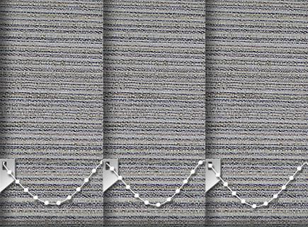 Made to Measure Vertical Blinds Cane Bark 3 Slats