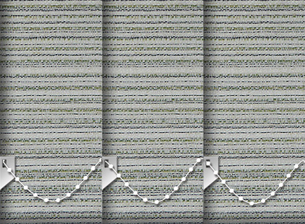 Made to Measure Vertical Blinds Cane Emerald 3 Slats