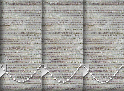 Made to Measure Vertical Blinds Cane Spice 3 Slats