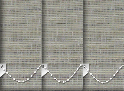 Made to Measure Vertical Blinds Canvas Buff 3 Slats