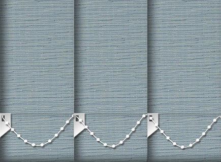Made to Measure Vertical Blinds Canvas Celeste 3 Slats
