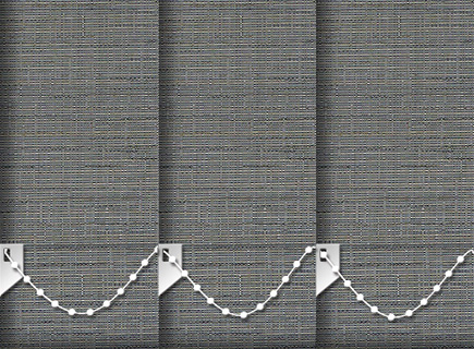 Made to Measure Vertical Blinds Canvas Onyx 3 Slats