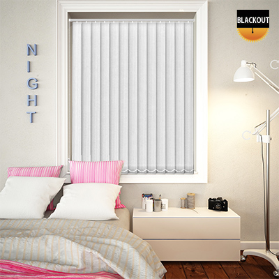 Made to Measure Blackout Replacement Vertical Blind Slats Charlie White Main