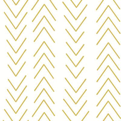 Chevron Mustard Roller Blinds Close Up