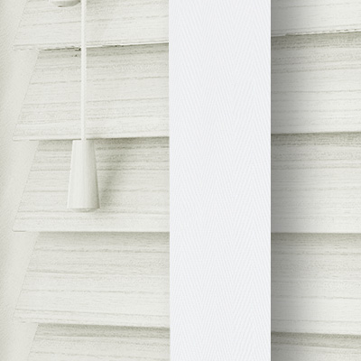 Cirrus Faux Wood with White Tape  Wooden Venetian Blind Close Up