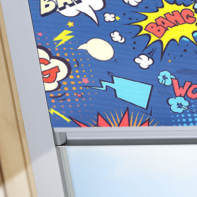 Blackout Blinds For VELUX Roof Skylight Windows Comic Book Frame One