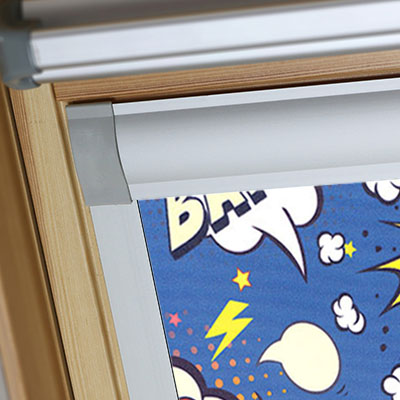 Blackout Blinds For VELUX Roof Skylight Windows Comic Book Frame Two