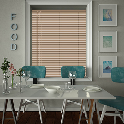 Venetian Blinds Cottage Pine Effect Closed